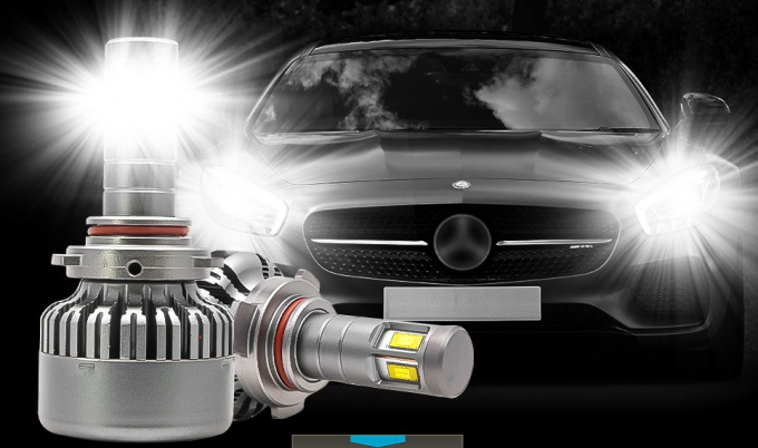 LED headlight conversion kit, 36W 4000lm H8 LED Headlight Bulbs Replacement Low Noise Automobile Lighting